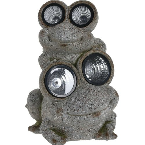 Large Solar Powered Toad Garden Ornament 41cm Tall