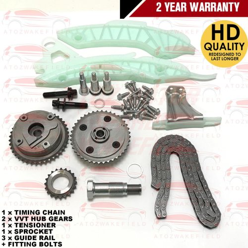 FOR PEUGEOT 206 207 208 1.4 1.6 16V VTi TIMING CHAIN KIT SET + VVT HUB GEARS