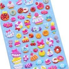 5 Sheets Funny Cartoon Stickers Children Decorative Toys[Multicolor]