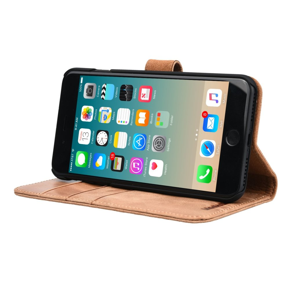 new arrival 64eb6 e57e6 iPhone 8 Plus Case / iPhone 7 Plus Case Wallet. Premium Leather Wallet Case  for Apple iPhone by MediaSkins ( Compatible with iPhone 7 Plus and...
