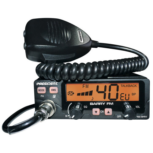 CB Radio President BARRY ASC AM / FM 12V / 24V with automatic squelch code TXPE002