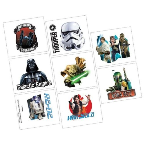 AmScan AM398366 Star Wars Tattoos - 8 per Pack