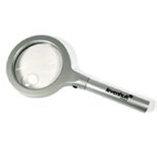 Levenhuk, Inc.  Zeno 600 LED Magnifier, 2.5x, 90 mm, Metal