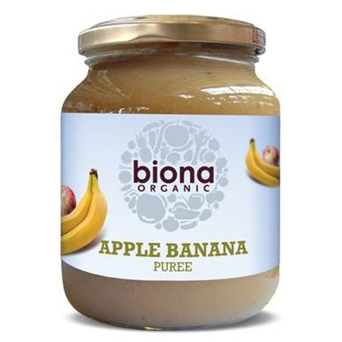 Biona Organic Apple & Banana Puree -no Added Sugar 350g
