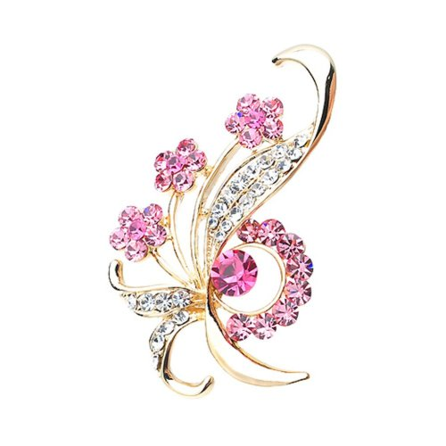 1e23365d2 Fashion Crystal & Diamond Party Brooch Pin Clothes Accessories PINK on OnBuy