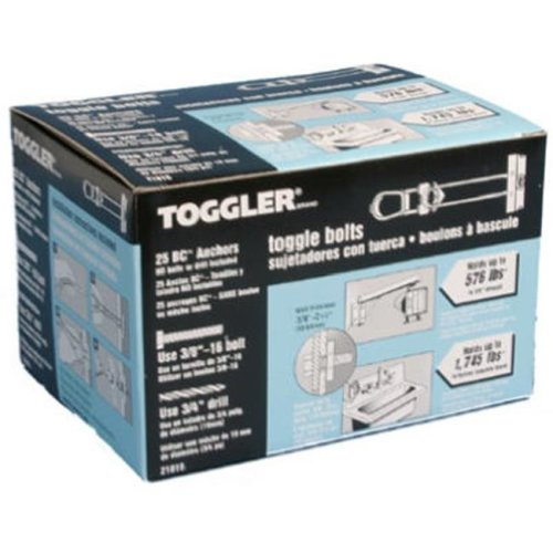 Mechanical Plastics 21015 0.38-16 in. Toggler BC Toggle Bolt, 25 Pack