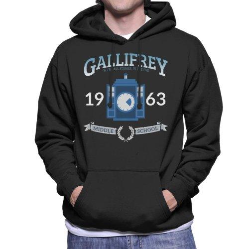 Gallifrey Middle School Doctor Who Men's Hooded Sweatshirt