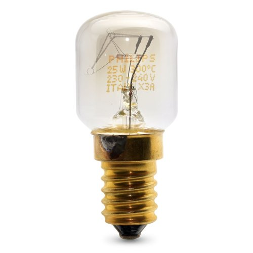 PHILIPS 25 WATT E14/SES OVEN LAMP LIGHT BULB 300 DEGREES