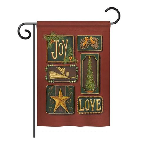 Breeze Decor BD-XM-G-114184-IP-BO-DS02-US Joy & Love Winter - Seasonal Christmas Impressions Decorative Vertical Garden Flag - 13 x 18.5 in.