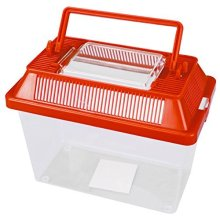 Small Animal Keeper Clear Plastic Box Tank With Ventilated Opening Lid Carry - -  small animal keeper clear plastic tank ventilated lid box opening