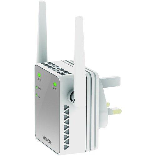 NETGEAR EX2700-100UKS Mini 300 Mbps Wi-Fi Range Extender (Wi-Fi Booster) Silver