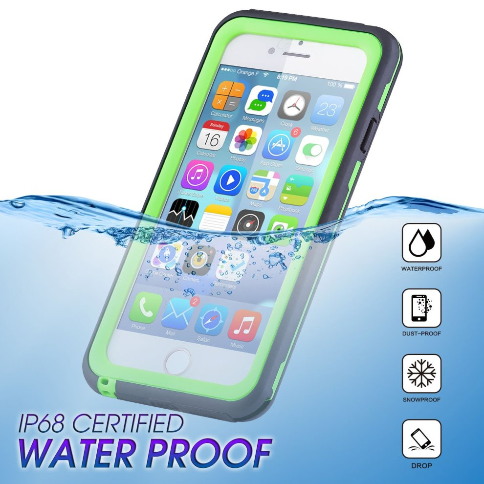 newest 7f665 977d8 Mishcdea for iPhone 7 Plus iPhone 8 Plus Waterproof Case Built in Screen  Protector Shockproof Dustproof Full Body Extreme Heavy Duty Protector...