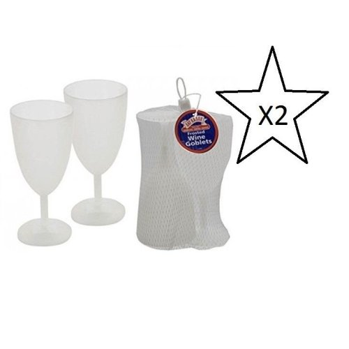 Bundle Eat Easee - Frosted Wine Goblets - 2 Packs Supplied