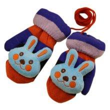 1 Pair Children's Winter Gloves Soft knitted&Warm Mittens (3-6 Years) Rabbit