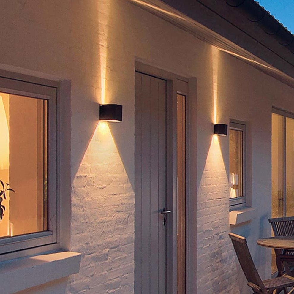 Led Exterior Wall Lamp Adjustable Light Beam Outside Wall
