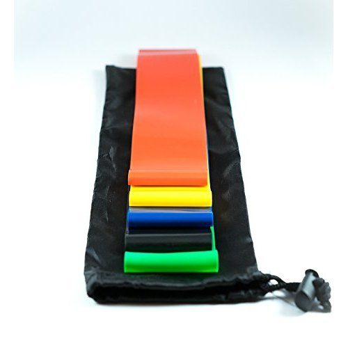 Exercise Resistance Bands - Set of 5 Exercise Bands for Improving Mobility  and Strength, Yoga, Pilates or for Injury Rehabilitation