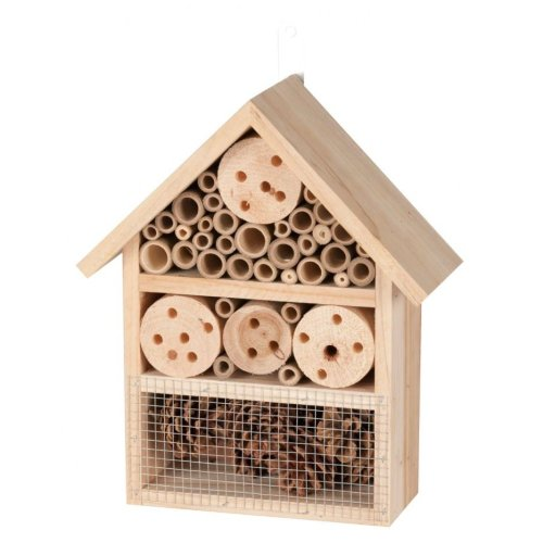 Med Hanging Wooden Insect Hotel Garden Bee Bug House 25X10X30Cm