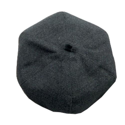 Ladies Cloth Beanie Hat Trendy Beret Winter Painter Cap Floppy Hat , Dark Gray
