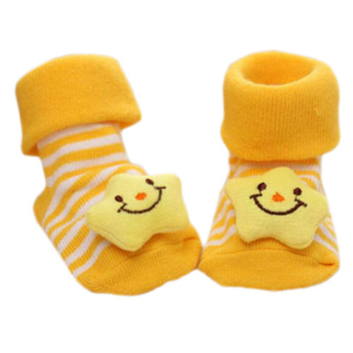 3 Pairs Non-slip Newborn Baby Toddler Socks Comfortable Warm Stockings Baby Birthday Gift For 6-12 month-A05