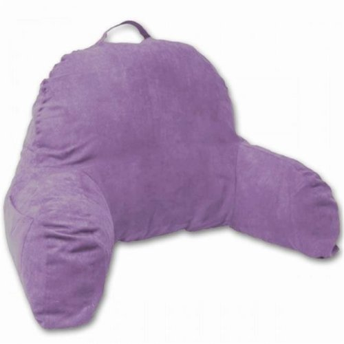 Living Healthy Products J-12-Lgt-purple Microsuede Bedrest Pillow, Light Purple