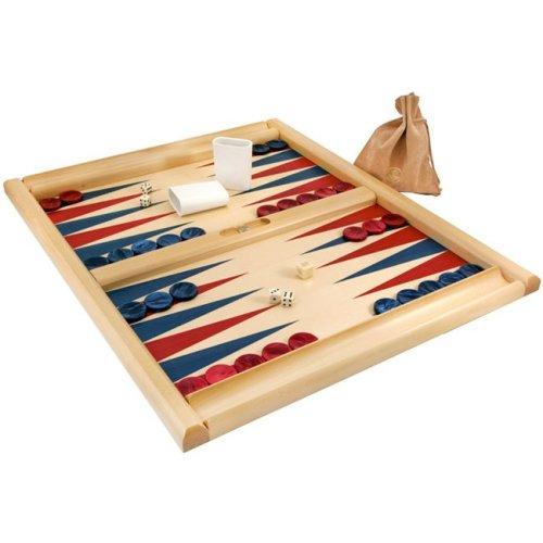 Dal Negro Skiathos Tournament Backgammon Set 21 inches