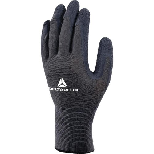Delta Plus VE630 Grip Latex Coated Safety Gloves Black/Grey (Various Sizes)