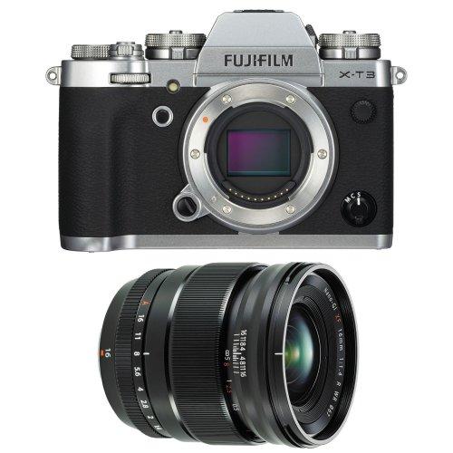 FUJI X-T3 Silver + XF 16MM F1.4 R WR Black