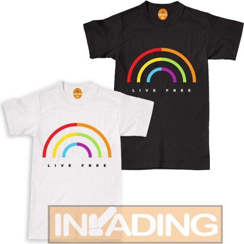 Live Free Gay Pride T Shirt