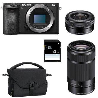 SONY A6500+ SEL 16-50MM F3.5-5.6 OSS Black + SEL 55-210MM F4.5-6.3 OSS