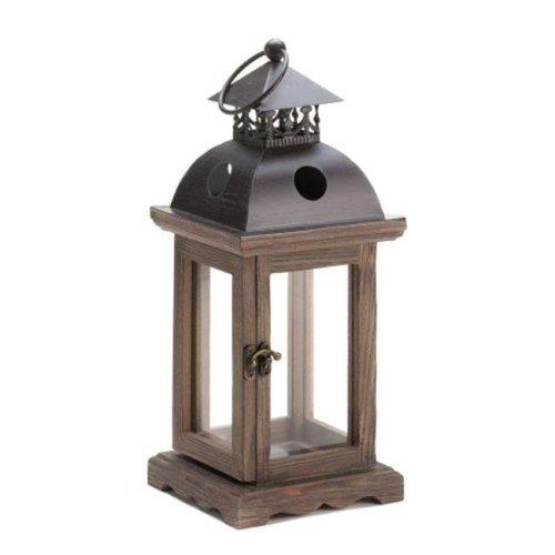 Home Locomotion  Rustic Wood Lantern