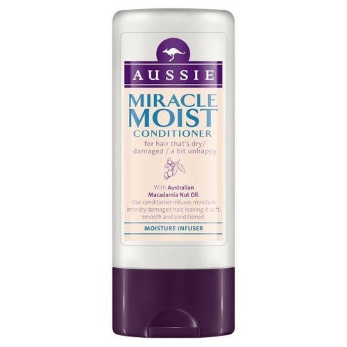 Aussie Conditioner Miracle Moist Dry Damaged Hair Macadamia Nut Extract 75ml