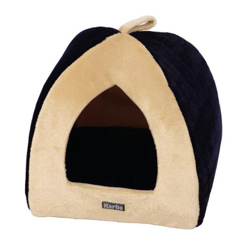 Karlie Pet Cave Happy Navy/Cream Cat & Small Dog Bed