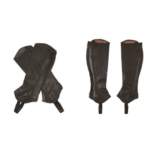 Mark Todd Adults Tall Close Fit Leather Half Chaps