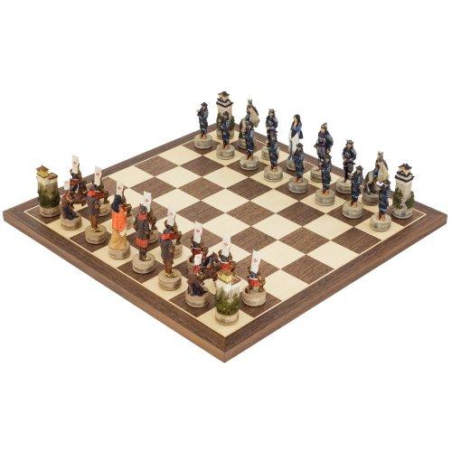 The Samurai hand painted themed Chess set by Italfama