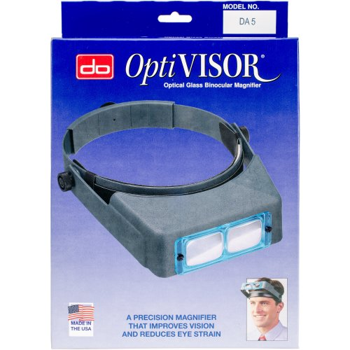 "Donegan Optical OptiVISOR Binocular Magnifier-Lensplate #5 Magnifies 2.5x At 8"""