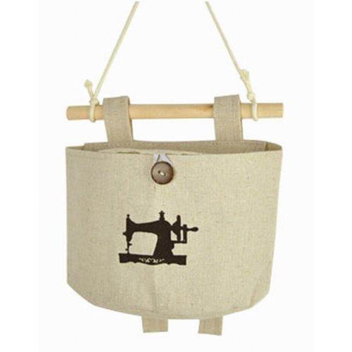 [Sewing Machine]Set of 2 Wall Door Hanger Storage Bags Cotton Organizer