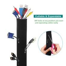 AGPtek Neoprene Cable Sleeves for TV Computer Management Sleeves