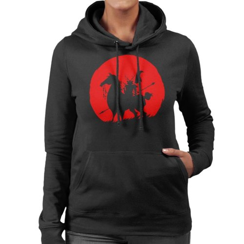 Shadow Warrior Silhouette Samurai Jack Women's Hooded Sweatshirt