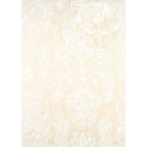 ATLAS CLA-602-2 Baroque wallpaper shimmering beige oyster white 5.33 sqm