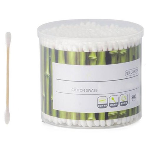 300 PCS Safety Cotton Swabs Double Tipped Cotton Buds Multipurpose Cleaning Sticks #19