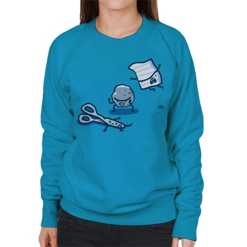 Paper Rock Scissor Fight Women's Sweatshirt