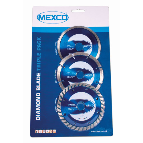 Mexco 115mm Diamond Blade Triple Pack