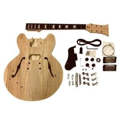 Left handed Coban ES GDES22L Mahogany Hollow body All Pre-drilled Electric Guitar DIY kit