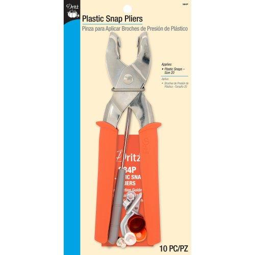 Dritz Plastic Snap Pliers Size 20-Orange