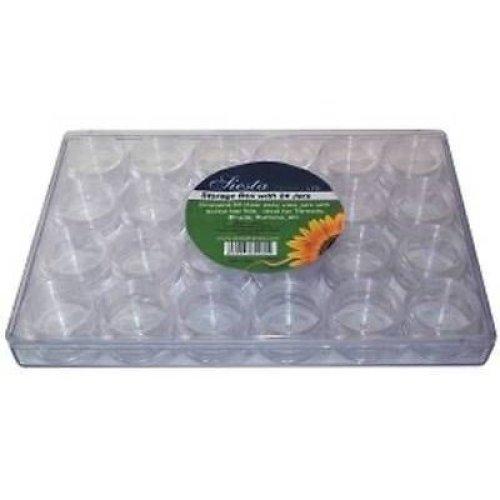 Siesta Bead Storage Organiser with 24 individual screw top pots