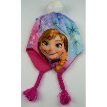 Girls HQ4042 Disney Frozen Peruvian Winter Hat Pink or Blue 52-54 cm
