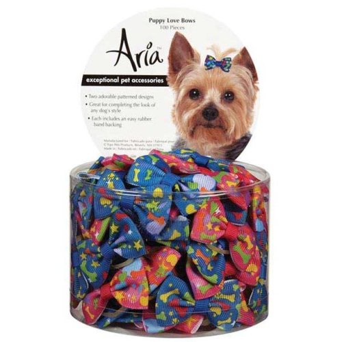 Aria Puppy Love Bow Canister 100 Pcs