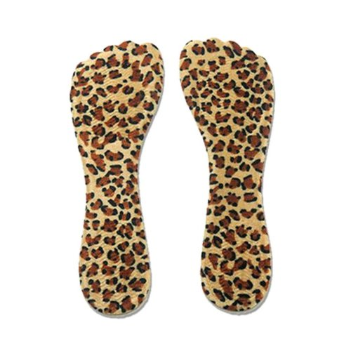 2 Pairs Of Leopard Non-Slip Silicone Pad Seven Points Insole
