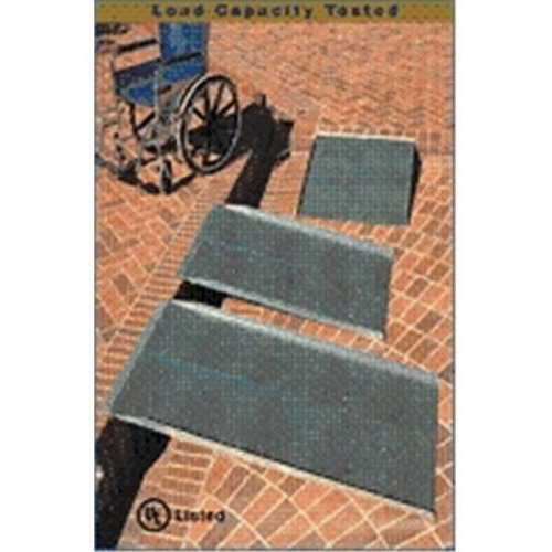 4-ft x 30-in Portable Solid Wheelchair Ramp 800 lb. Weight Capacity  Maximum 8-in Rise