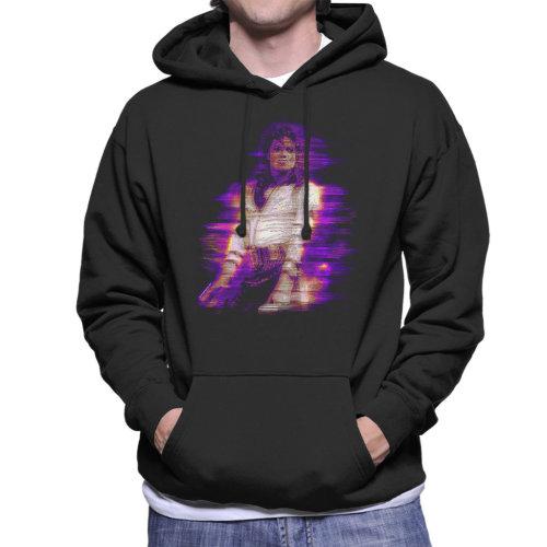 Michael Jackson Bad World Tour 1988 Purple Flare Men's Hooded Sweatshirt
